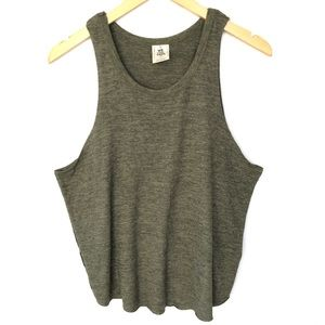 Free People Coziest Swing Tank Top Green Women's S
